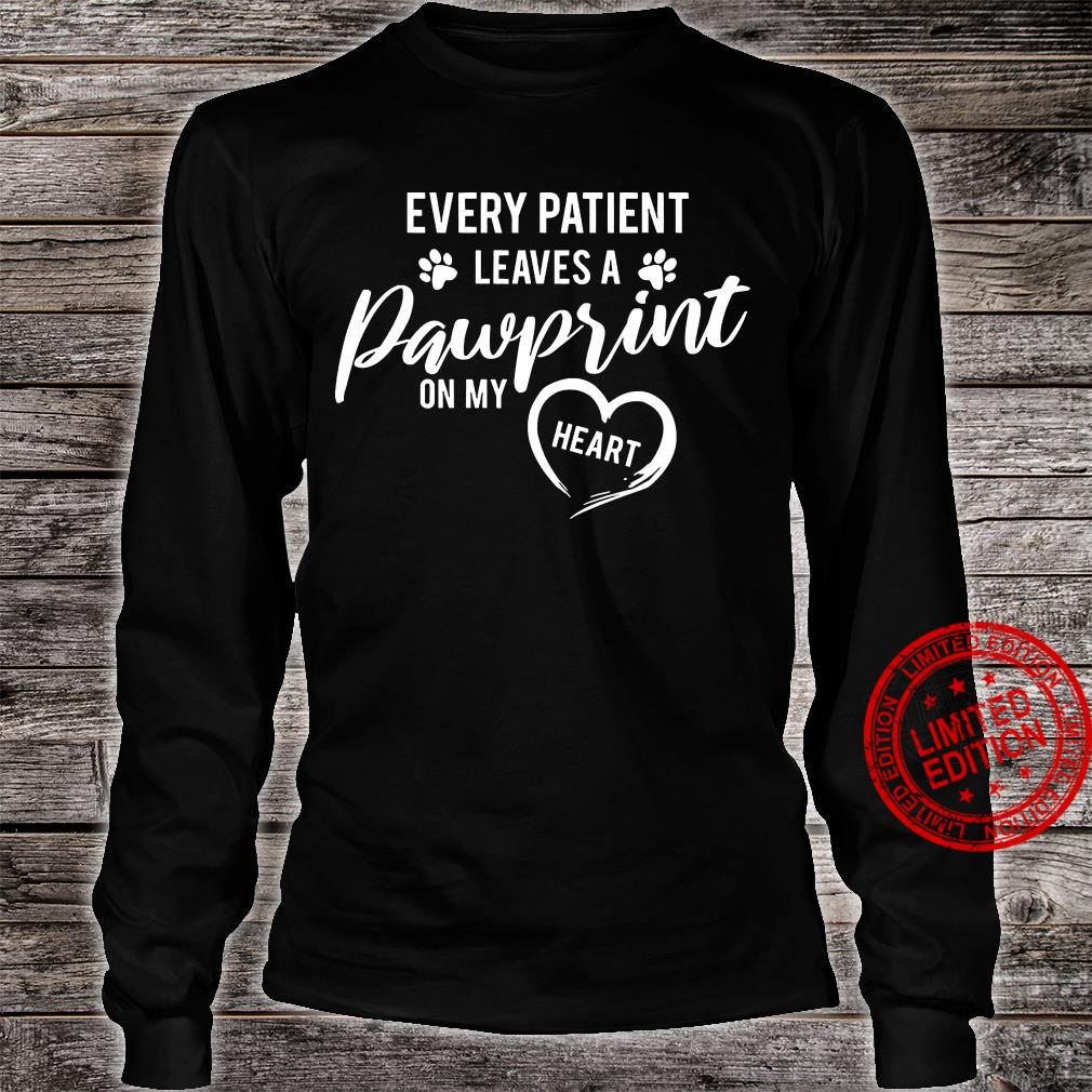 Every Patient Leaves A Pawprint On My Heart Shirt long sleeved