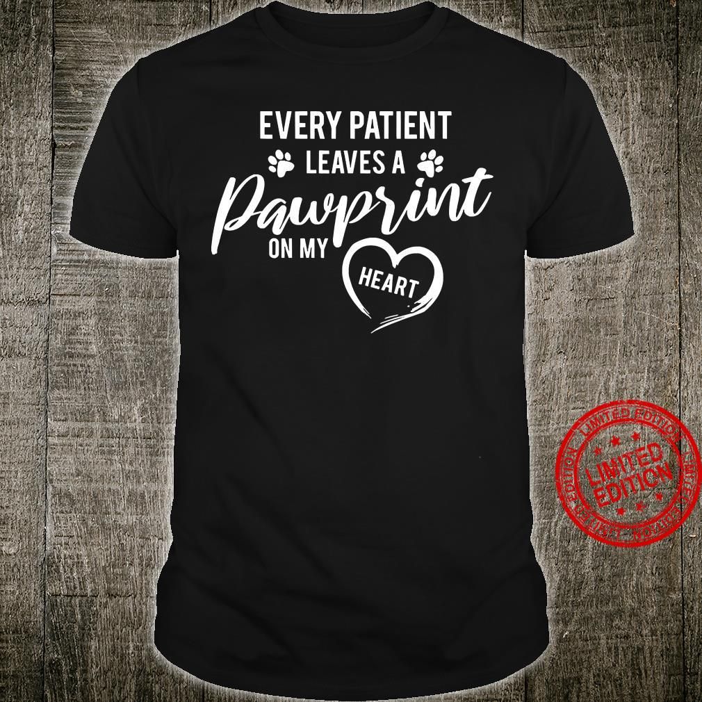 Every Patient Leaves A Pawprint On My Heart Shirt unisex