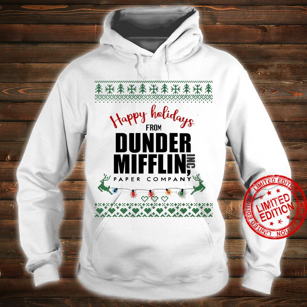 Happy Holidays From Dunder Mifflin Paper Company Shirt hoodie