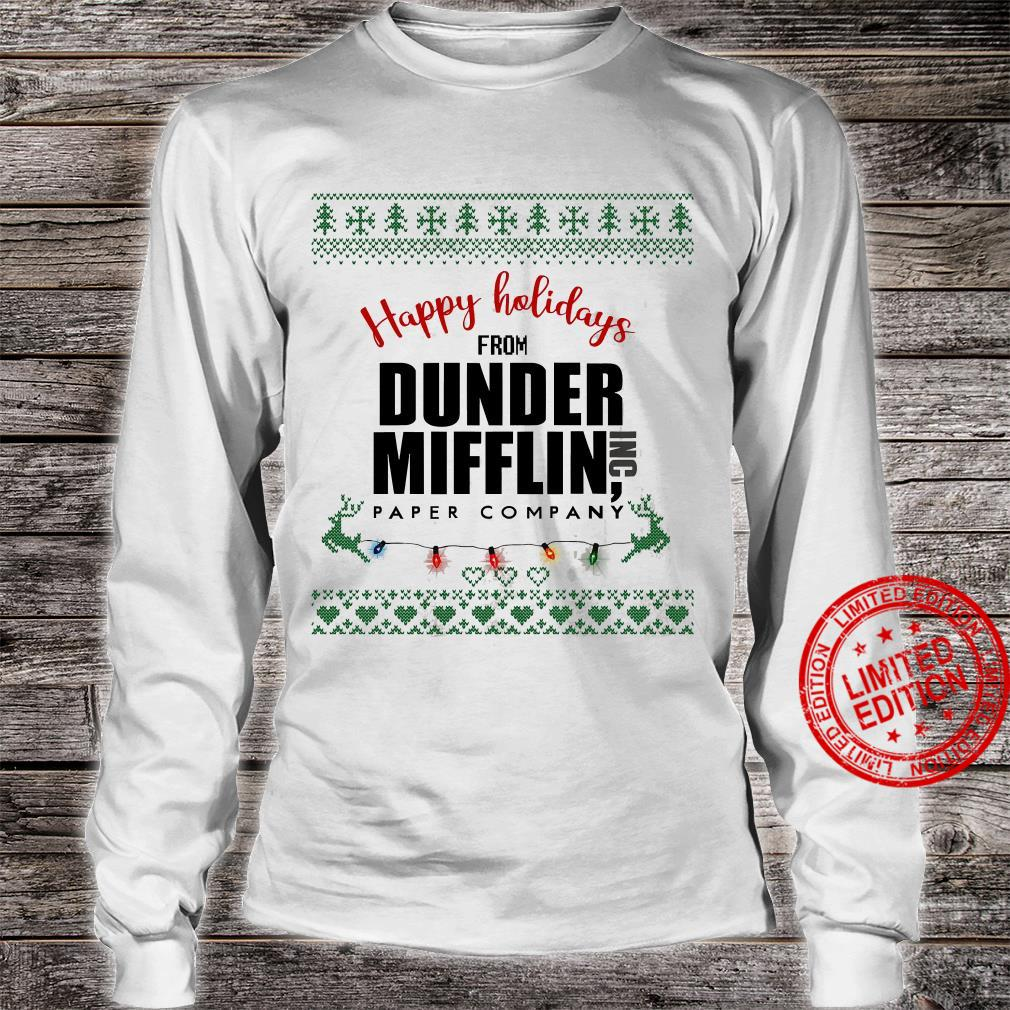 Happy Holidays From Dunder Mifflin Paper Company Shirt long sleeved