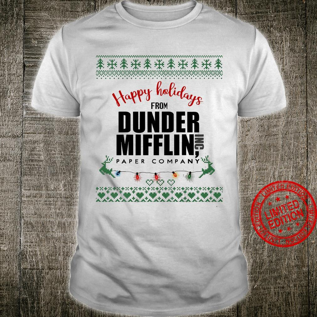 Happy Holidays From Dunder Mifflin Paper Company Shirt unisex