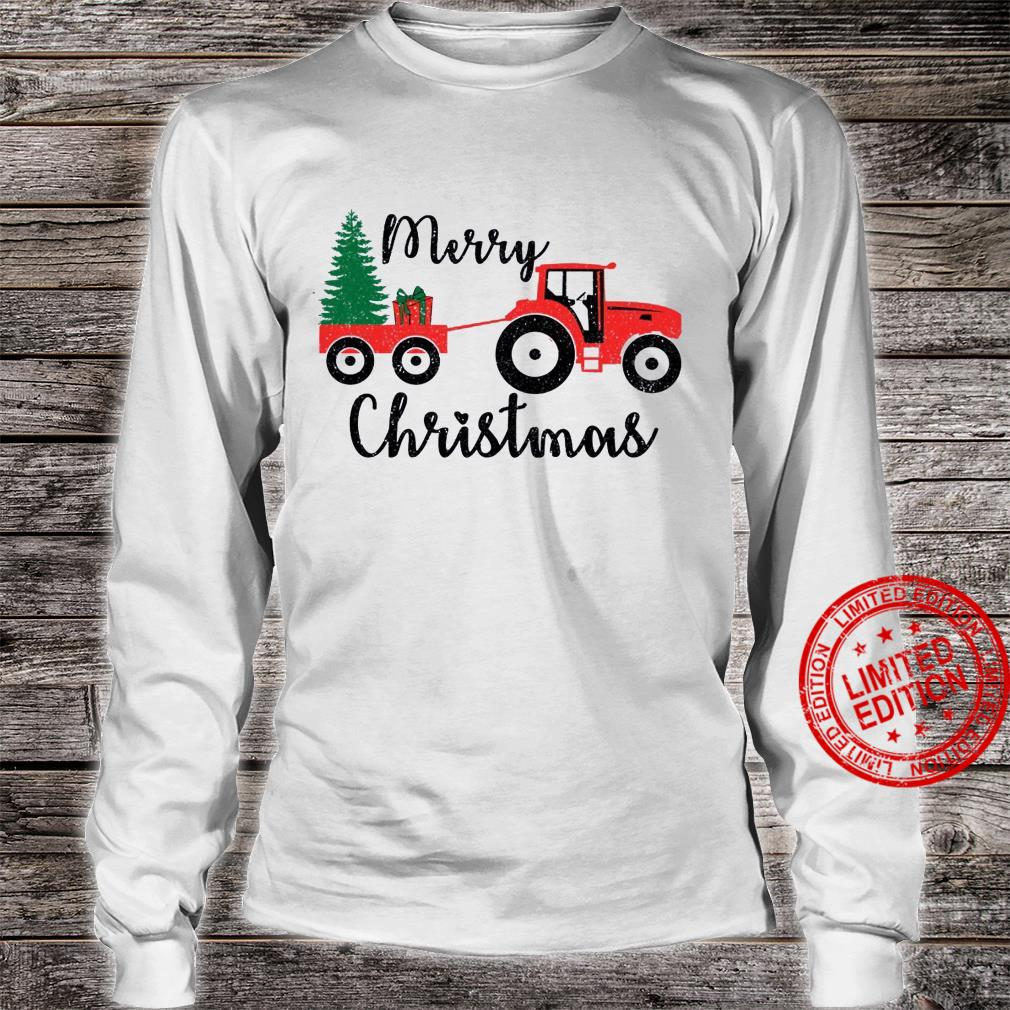 Tractor Merry Christmas Shirt long sleeved